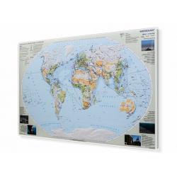 Świat - degradacja środowiska 166x98cm. Mapa w ramie aluminowej.