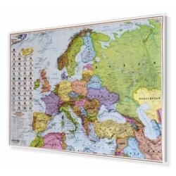 Europa polityczna 100x70cm. Mapa w ramie aluminiowej.