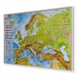 Europa fizyczna 100x70cm. Mapa do wpinania.