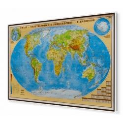 Świat fizyczny 100x70cm. Mapa do wpinania.