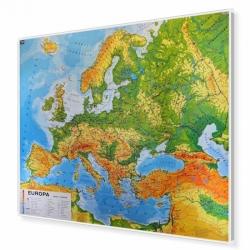 Europa fizyczna 180x150cm. Mapa do wpinania.