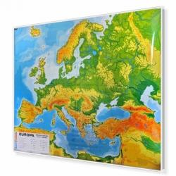 Europa fizyczna do ćwiczeń 180x150cm. Mapa magnetyczna.
