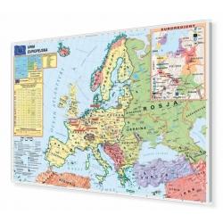 Unia Europejska - strefa Schengen 160x110cm. Mapa w ramie aluminiowej.