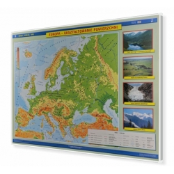 Europa fizyczna 160x120cm. Mapa magnetyczna.
