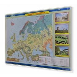 Europa krajobrazy 160x120cm. Mapa w ramie aluminiowej.