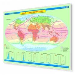 Świat strefy klimatyczne 160x120 cm. Mapa magnetyczna.