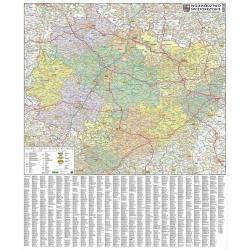 .Świętokrzyskie 1:162 tys Piętka Mapa ścienna 90x80cm