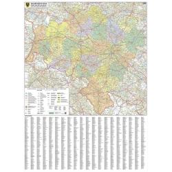 Woj. Dolnośląskie 104x122cm Mapa ścienna