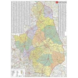 M-DR Woj. Podlaskie 1:183 tys. Piętka Mapa ścienna 100x130cm