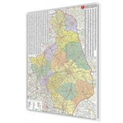 Podlaskie administracyjno-drogowa 97x135 cm. Mapa w ramie aluminiowej.