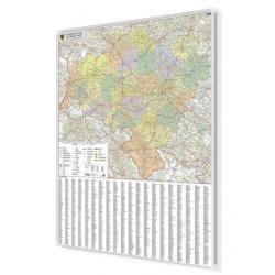 Dolnośląskie Administracyjno-drogowa 1:220 tys. wymiar 100x120 cm. Mapa magnetyczna.