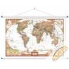 Świat Polityczny exclusive 186x122cm. Mapa ścienna.