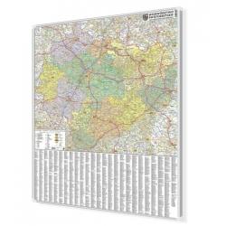 Świętokrzyskie 100x120 cm. Mapa w ramie aluminiowej.