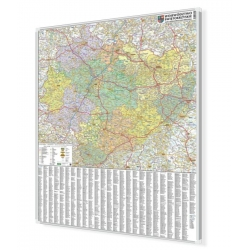 Świętokrzyskie 100x120 cm. Mapa do wpinania.