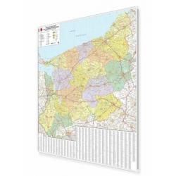 Zachodniopomorskie 100x120 cm. Mapa w ramie aluminiowej.