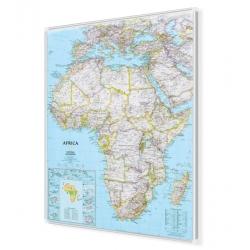 Afryka 96x118 cm. Mapa w ramie aluminiowej.