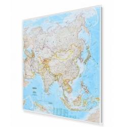 Azja 90x98 cm. Mapa w ramie aluminiowej.