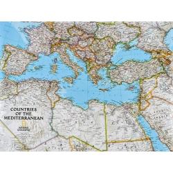 Kraje Basenu Śróddziemnego/Europa Południowa i Afryka Północna 82x60cm. Mapa ścienna.