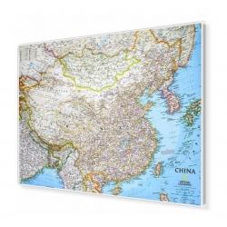 Chiny administracyjno-drogowa 84x60cm. Mapa magnetyczna.