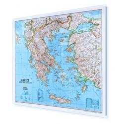 Grecja, płd. Albania, Macedonia 82x60cm. Mapa do wpinania.