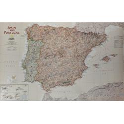 Hiszpania i Portugalia exclusive 86x57cm. Mapa ścienna.