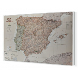 Hiszpania i Portugalia exclusive 86x57cm. Mapa do wpinania.