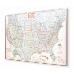 Stany Zjednoczone/USA ekskluzywna 180x122 cm. Mapa do wpinania.