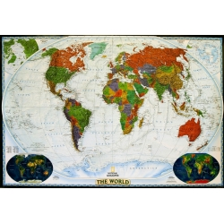 Świat Polityczny dekoracyjny 188x122cm. Mapa ścienna.