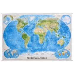 Świat Fizyczny 182x118 cm. Mapa ścienna.
