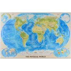 Świat Fizyczny 117x76cm. Mapa ścienna.