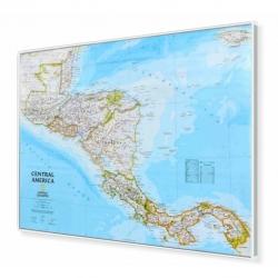 Ameryka Środkowa 78x58cm. Mapa w ramie aluminiowej.