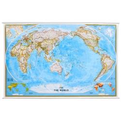 Świat polityczny Pacific Centred 190x124cm. Mapa ścienna.