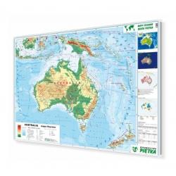 Australia fizyczna 148x98cm. Mapa w ramie aluminiowej.