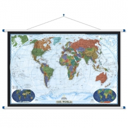 Świat Polityczny dekoracyjny 120x78cm. Mapa ścienna.