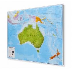 Australia polityczna 125x100cm. Mapa w ramie aluminiowej.