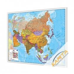 Azja Polityczna 120x100cm. Mapa w ramie aluminiowej.