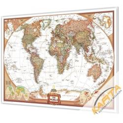 Świat Polityczny Exclusive 117x77cm. Mapa magnetyczna.