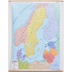 Kraje bałtyckie polityczna 110x145cm. Mapa ścienna.