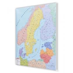 Kraje Besenu Morza Bałtyckiego polityczna 126x154cm. Mapa do wpinania.