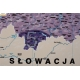 Polska z podziałem na srefy obciążenia śniegiem 120x110 cm. Mapa magnetyczna.