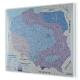 Polska z podziałem na strefy obciążenia śniegiem 120x110cm. Mapa do wpinania.