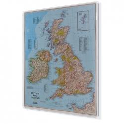 Wielka Brytania i Irlandia 64x77cm. Mapa do wpinania.