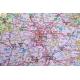 Polska administracyjno-drogowa z kodami pocztowymi 104x96cm. Mapa do wpinania.