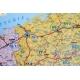 Polska administracyjno-drogowa z kodami pocztowymi 104x96cm. Mapa w ramie aluminiowej.