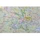 Karkonosze Polskie i Czeskie 154x110cm. Mapa w ramie aluminiowej.