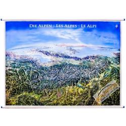 Alpy Panorama 140x95cm. Mapa ścienna.