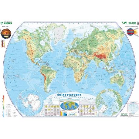 Świat fizyczny 207x130cm. Mapa ścienna.