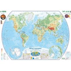 Świat fizyczny 140x98cm. Mapa ścienna.
