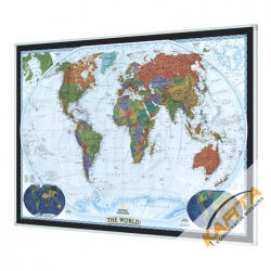 Świat Polityczny Dekoracyjny 188x122cm. Mapa magnetyczna.