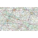 Polska samochodowa (drogowa) 152x136cm. Mapa ścienna.